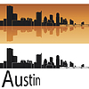 ID 3856531 | Skyline von Austin | Stock Vektorgrafik | CLIPARTO