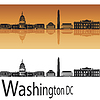 Skyline von Washington, DC | Stock Vektrografik