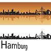 Hamburg skyline w pomarańczowym tle | Stock Vector Graphics