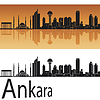 Ankara skyline w pomarańczowym tle | Stock Vector Graphics