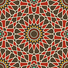 Arabesque seamless pattern in red and brown | Stock Vector Graphics