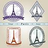 Vintage znaczek Paryż | Stock Vector Graphics