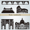 Rome landmarks and monuments | Stock Vector Graphics