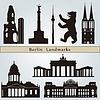 Berlin Sehenswürdigkeiten und Denkmäler | Stock Vektrografik