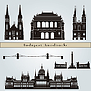Budapest Sehenswürdigkeiten und Denkmäler | Stock Vektrografik