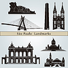 Sao Paulo landmarks and monuments | Stock Vector Graphics