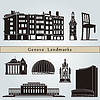 Geneva landmarks and monuments | Stock Vector Graphics