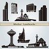 Khobar landmarks and monuments | Stock Vector Graphics
