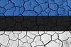 ID 3881338 | Flaga Estonii na tle pęknięty | Stockowa ilustracja wysokiej rozdzielczości | KLIPARTO