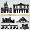 Naples landmarks and monuments | Stock Vector Graphics
