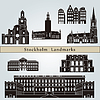 Stockholm landmarks and monuments | Stock Vector Graphics