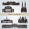 Wien Sehenswürdigkeiten und Denkmäler | Stock Vektrografik