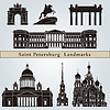 Sankt Petersburg zabytki i pomniki | Stock Vector Graphics