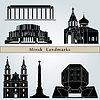 Minsk landmarks and monuments | Stock Vector Graphics