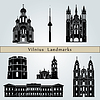 Vilnius landmarks and monuments | Stock Vector Graphics