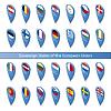 Pin Flaggen der europäischen Union