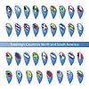 Pin Flaggen von souveränen Staaten Nord-und Süd-