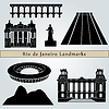 Rio de Janeiro landmarks and monuments | Stock Vector Graphics
