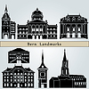 Bern landmarks and monuments | Stock Vector Graphics