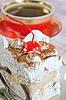 Tasse Tee mit Kuchen | Stock Foto