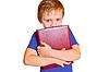 Chłopiec z książki | Stock Foto