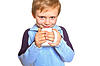 Boy with cup | Stock Foto