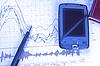 ID 3867318 | PDA i pióro na wykresie giełdowym | Foto stockowe wysokiej rozdzielczości | KLIPARTO