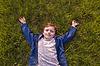 Boy on grass | Stock Foto