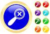 Icon der Lupe | Stock Vektrografik