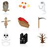 Icon set Halloween | Stock Vektrografik