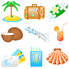 Icon set Vacations | Stock Vector Graphics