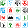Zestaw ikon środowiska | Stock Vector Graphics