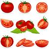 Icon Set Tomato | Stock Vektrografik