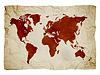 Mapa świata na papierze | Stock Foto