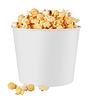 Białe pudełko popcornu | Stock Foto