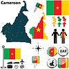Landkarte von Kamerun