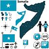 Karte von Somalia