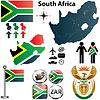 Südafrika-Karte mit Regionen