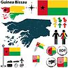 Karte von Guinea-Bissau