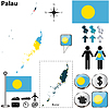 Karte von Palau