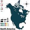 ID 4054552 | Mapa polityczna Ameryki Północnej | Klipart wektorowy | KLIPARTO