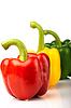Czerwony, żółty, zielony pieprz | Stock Foto