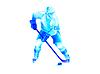 ID 4071967 | Хоккеист атаки | Иллюстрация большого размера | CLIPARTO