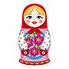 Русская кукла | Векторный клипарт