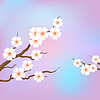 Spring border background with pink blossom | Stock Vector Graphics