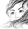 Dziewczyna `s face grafiki | Stock Vector Graphics