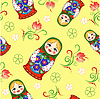 Bez szwu lalka rosyjski | Stock Vector Graphics