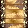 Узор на фоне древесины | Векторный клипарт