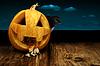 ID 3925264 | Pumpkin and crow | Foto stockowe wysokiej rozdzielczości | KLIPARTO