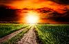 ID 3913919 | Драматические закат над сельский пейзаж | Фото большого размера | CLIPARTO